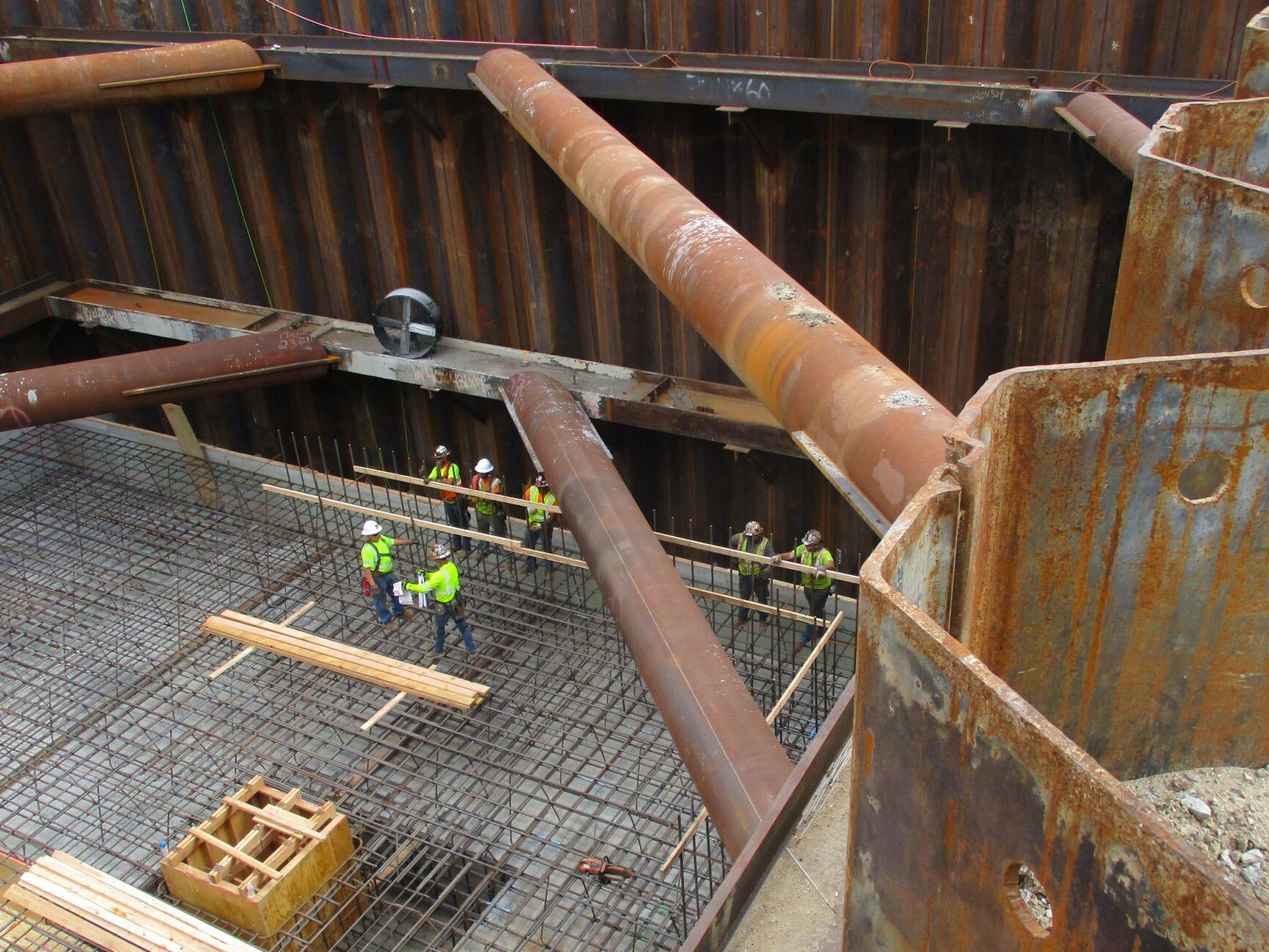 Kansas City pump station concrete pour